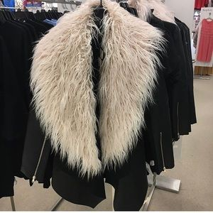 The Limited jacket faux leather faux fur